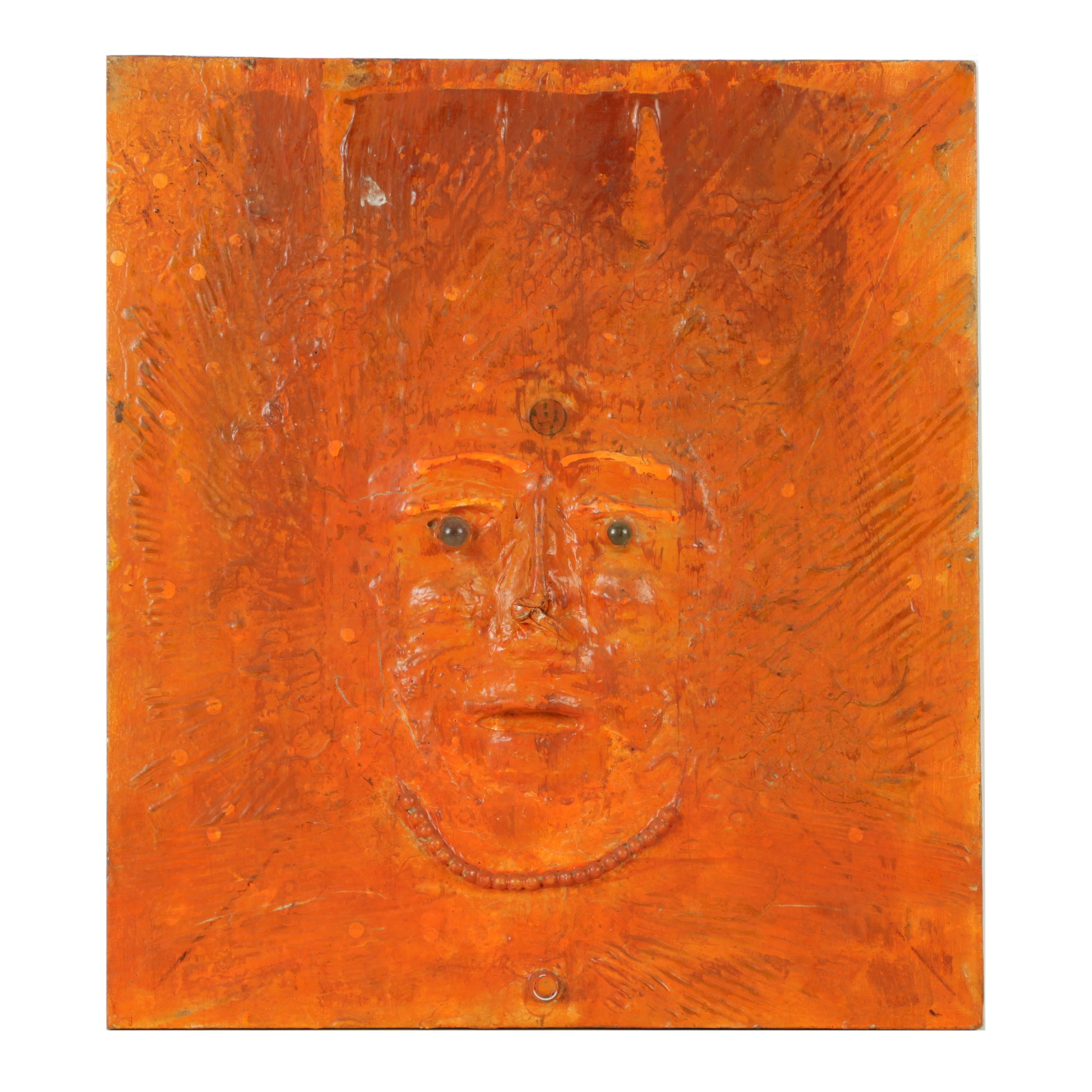 Mixed Media on Canvas of a Face