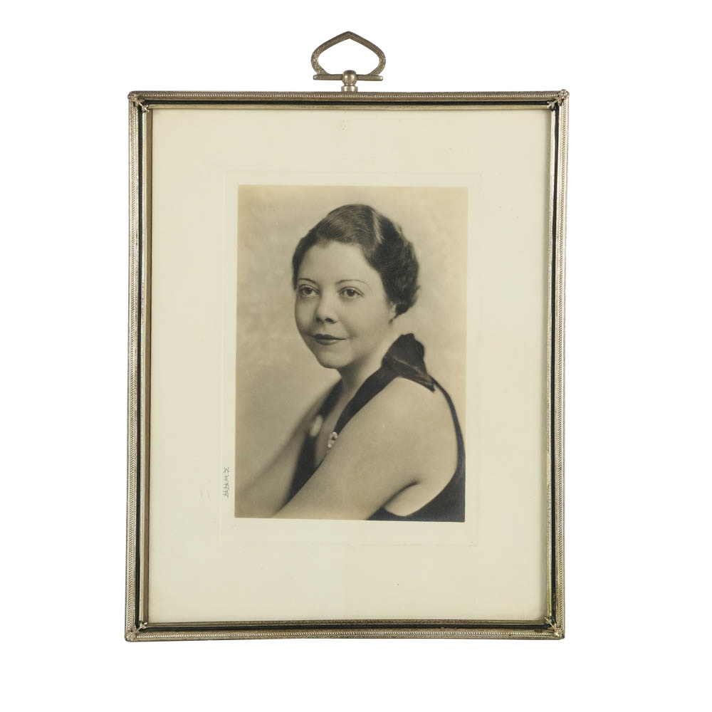 Mid-20th Century Vintage Photograph Portrait of a Woman