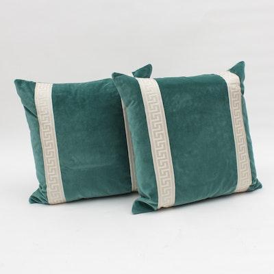 Teal Velvet Pillows