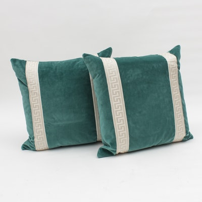 Teal Velvet Pillows