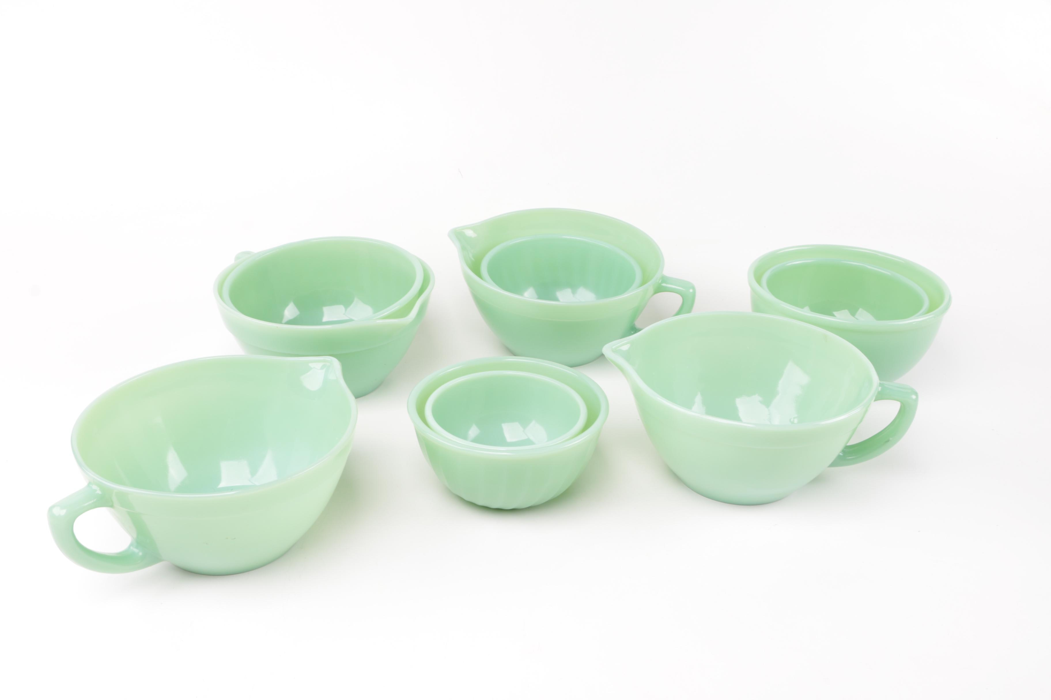 Fire-King Jadeite Mixing Bowls