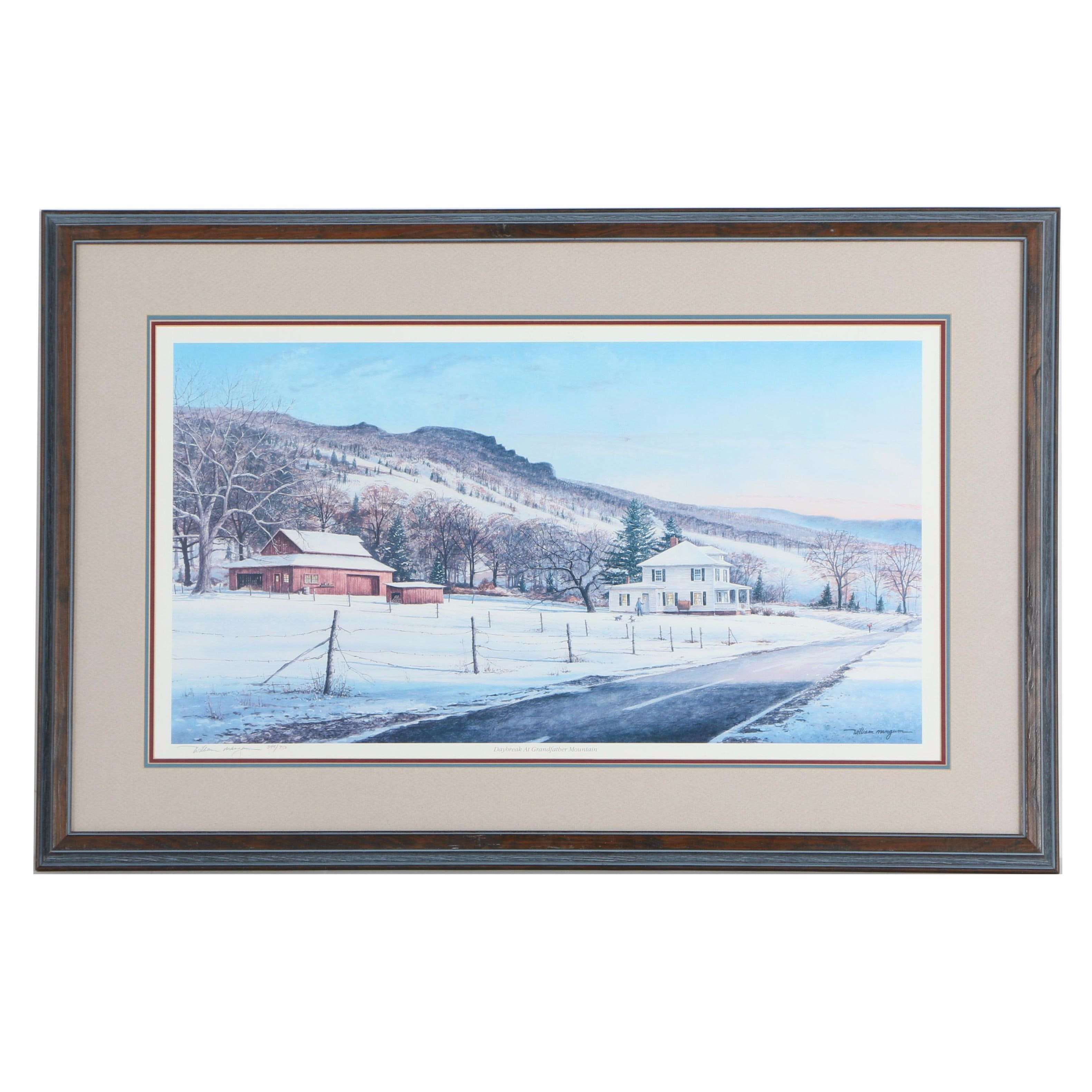 """Signed Limited Edition Offset Lithograph """"Daybreak At Grandfather Mountain"""""""