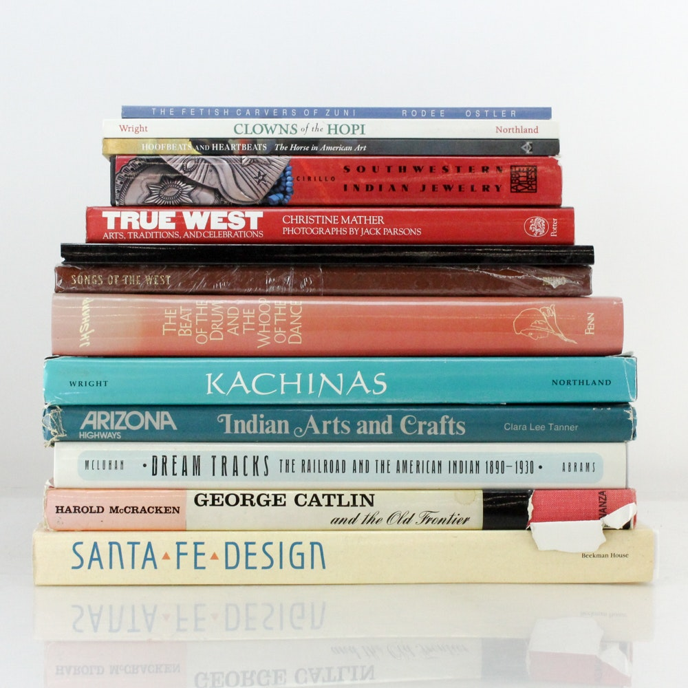 """Western Art Books Including Signed Books and """"Songs of the West"""" CD Set"""