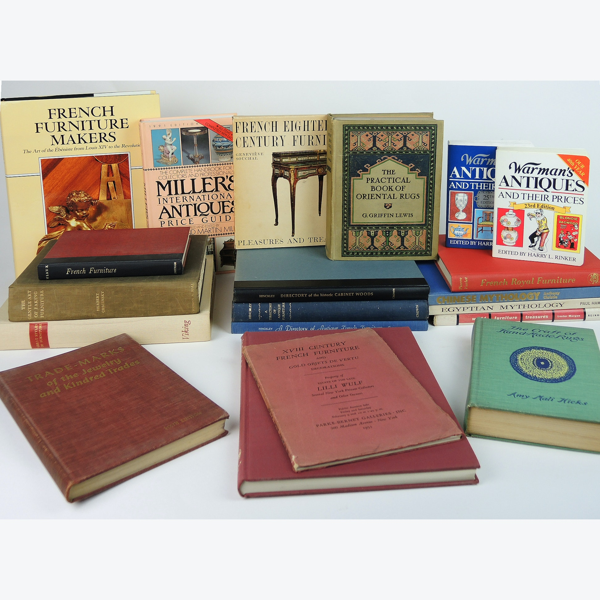Book Collection on Antiques and Furniture