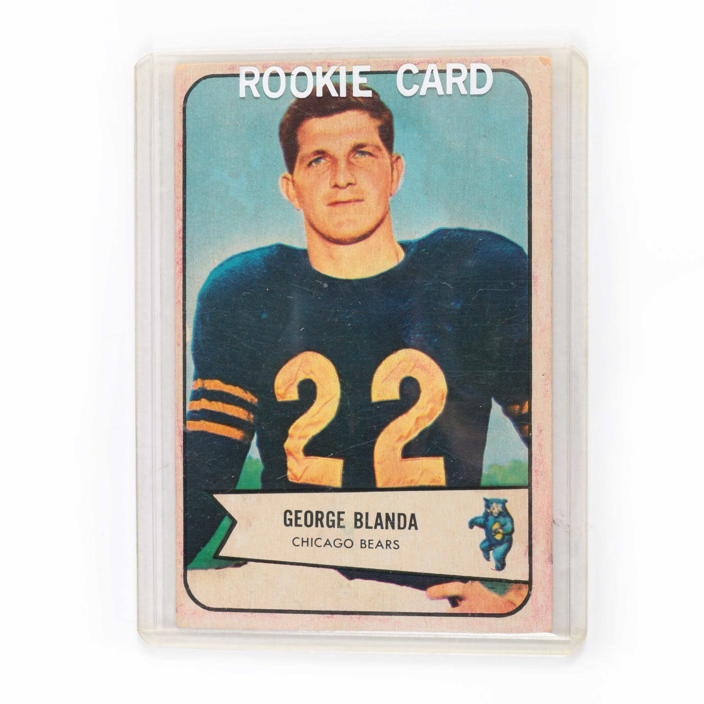 1954 Bowman George Blanda Rookie Football Card