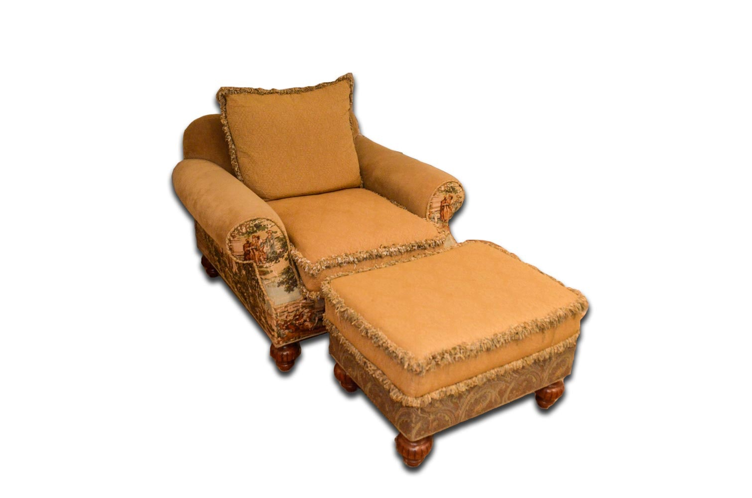 Charming Lounge Chair And Ottoman By Hickory House Furniture Company ...