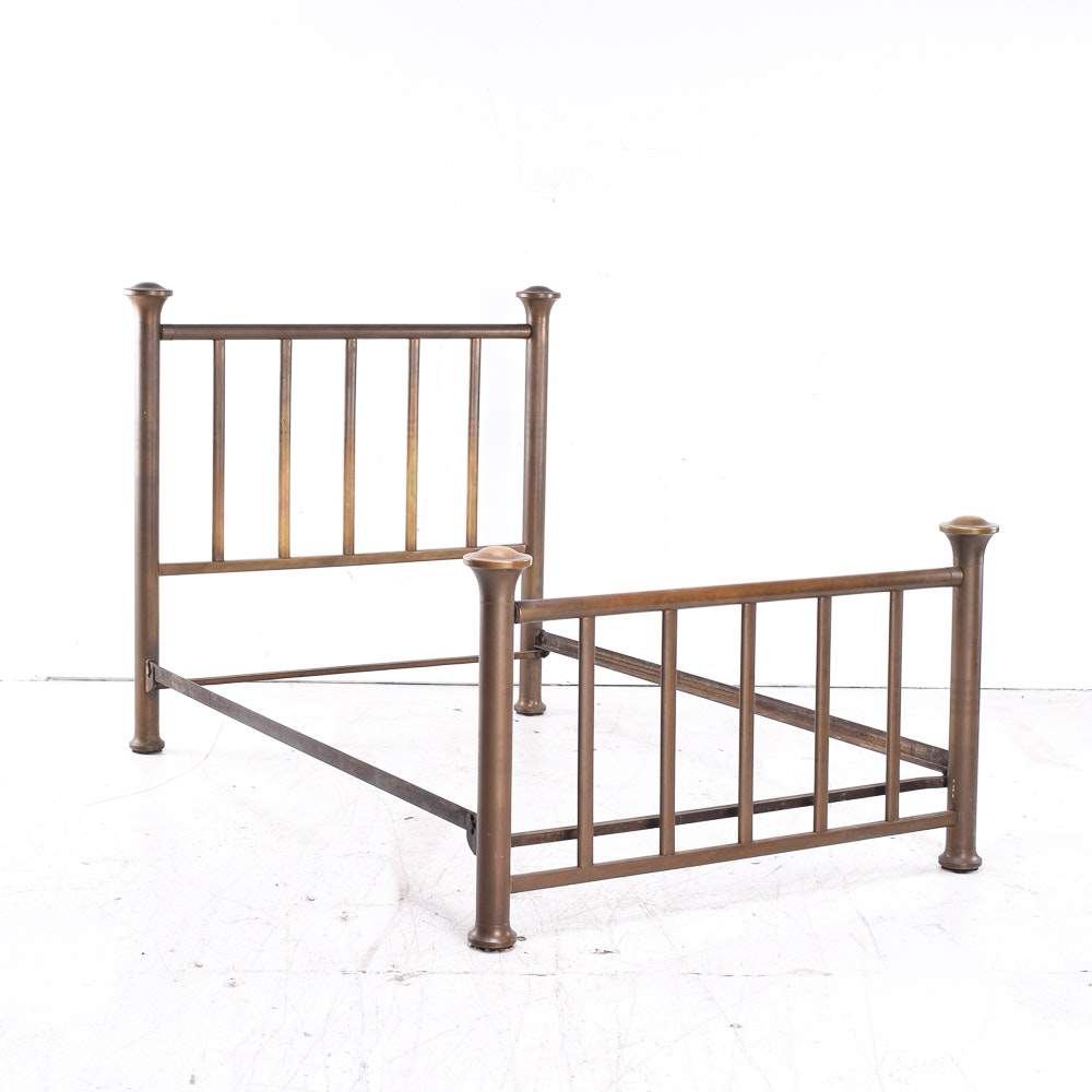 Antique Full-Size Mission Brass Bed