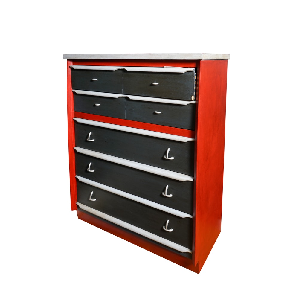 Painted Mid-Century Chest of Drawers