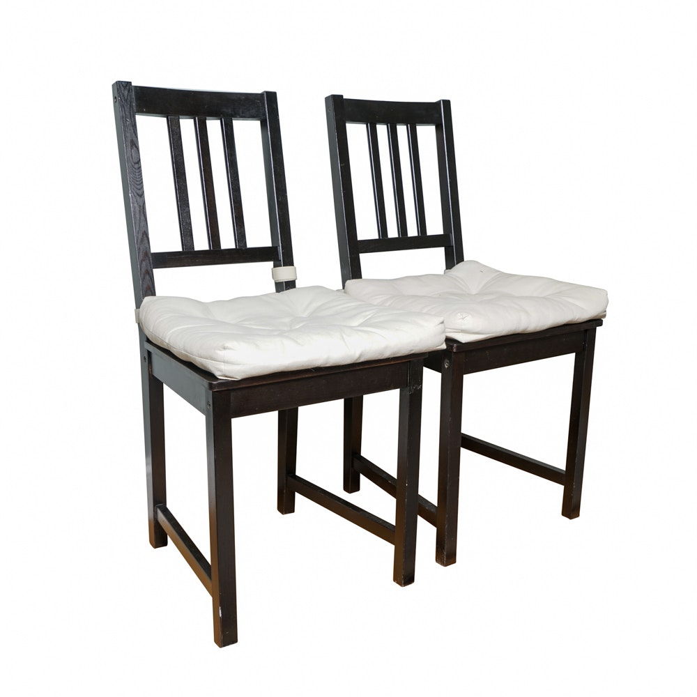 "Pair of Ikea ""Stefan"" Side Chairs"