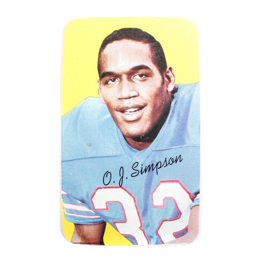 1970 Oj Simpson Rookie Football Card
