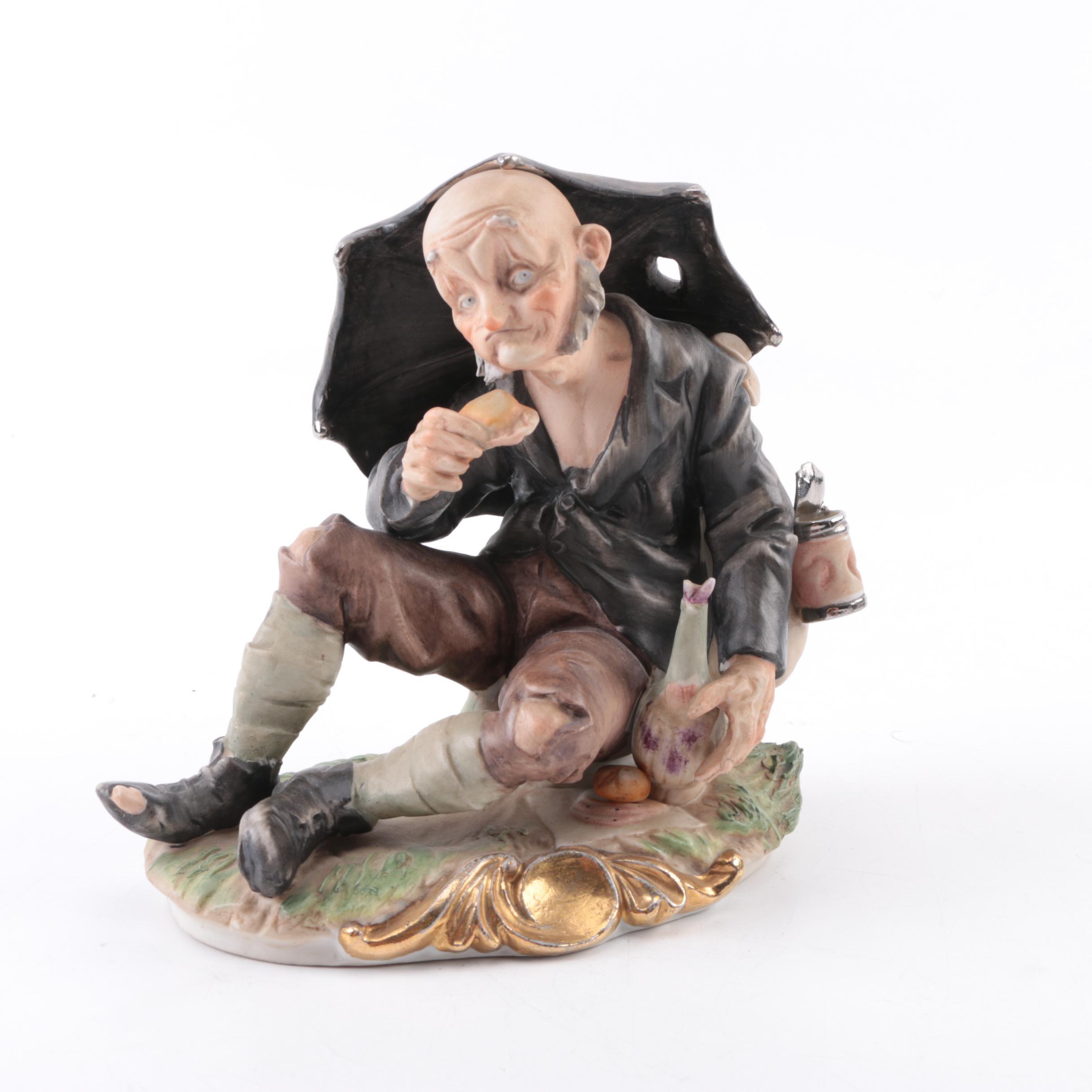 Old Man Ceramic Figurine