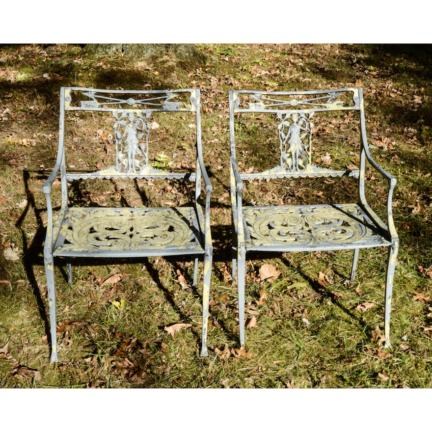 Vintage Cast Aluminum Patio Chairs