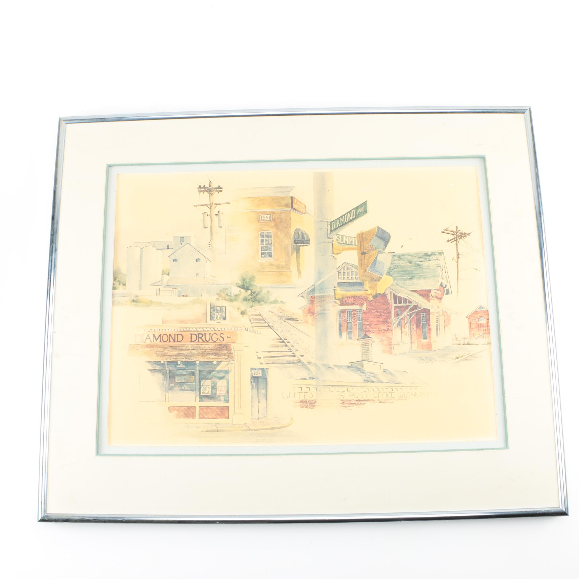 Hand-signed Limited Edition Offset Lithograph on Paper