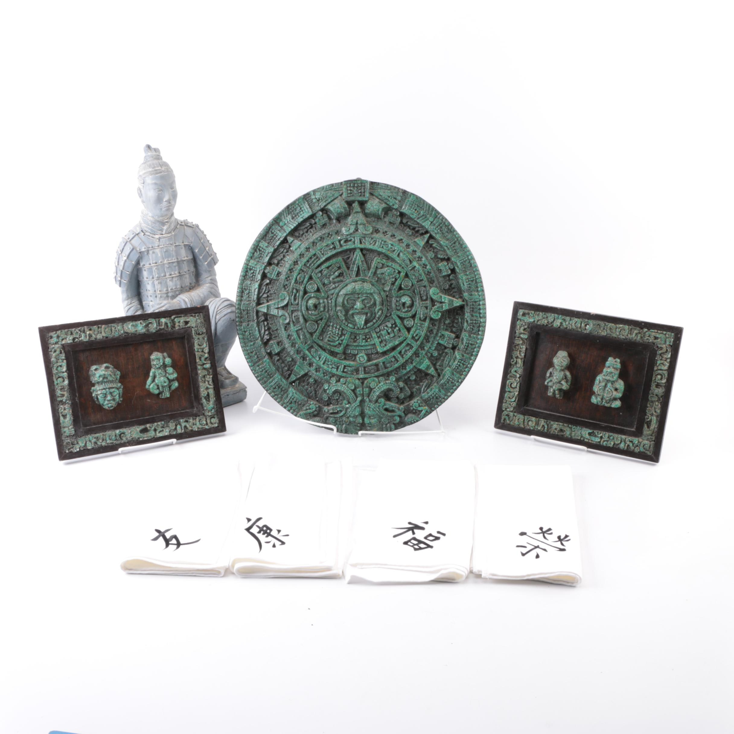 Central American and Chinese Influenced Home Decor with Table Napkins