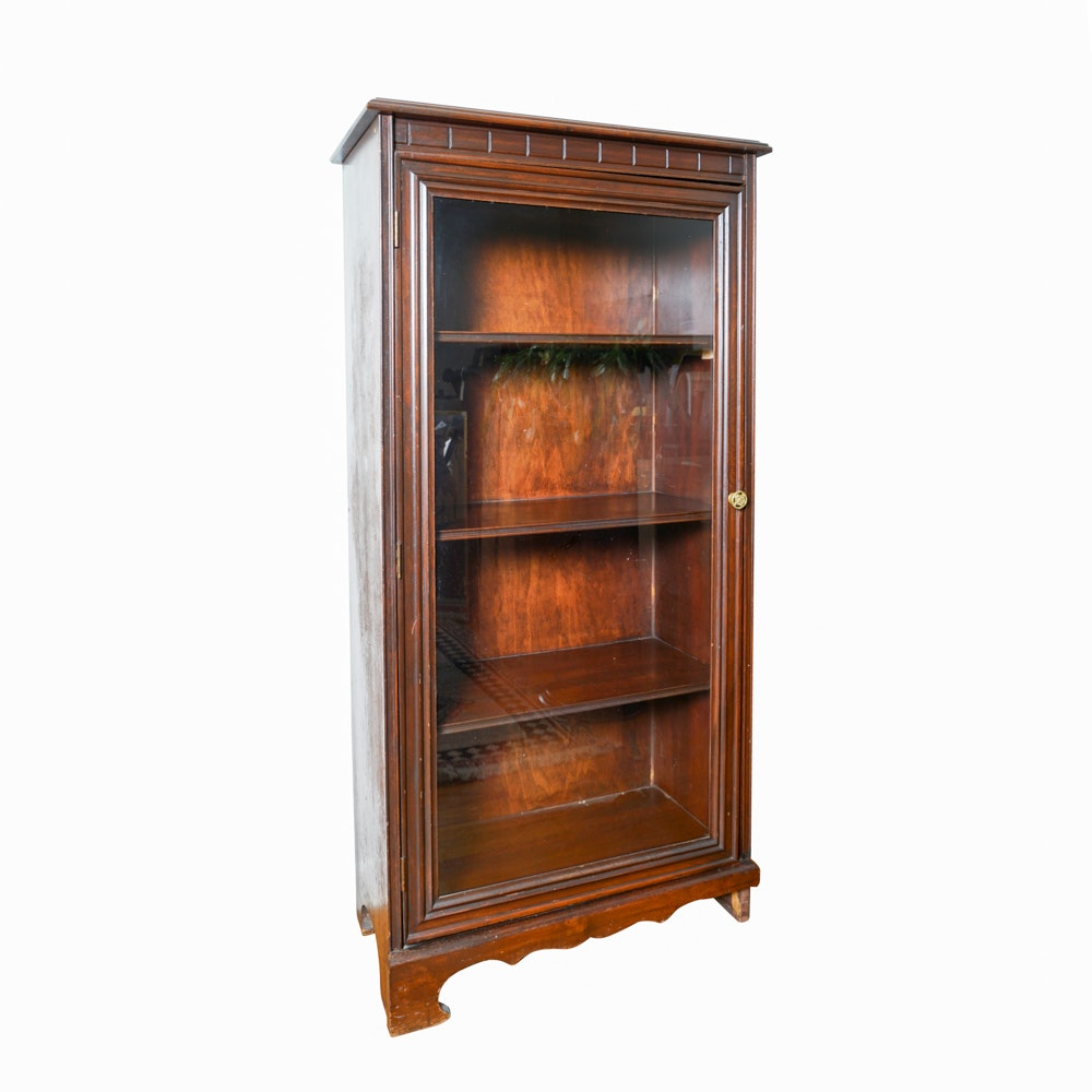 Vintage Mahogany Glass Front Bookcase