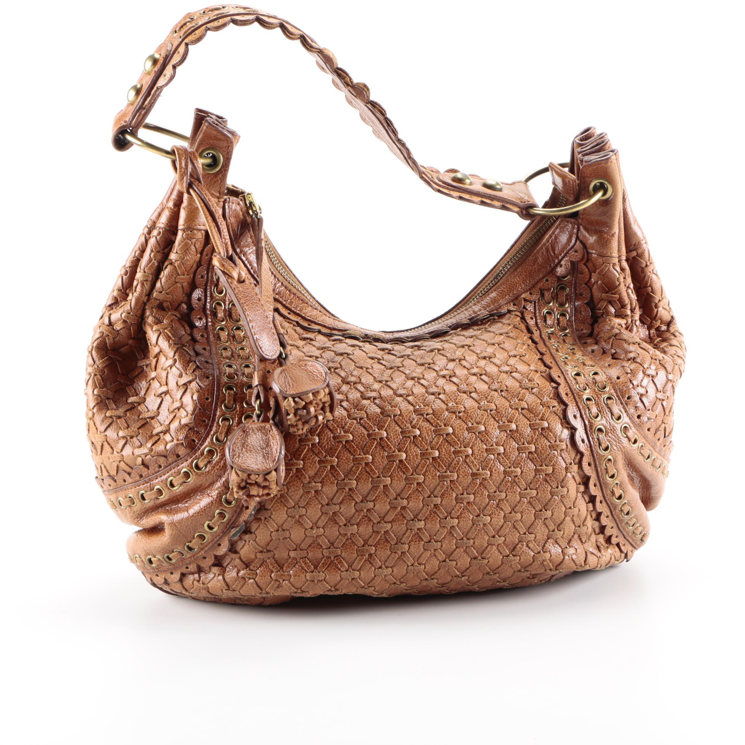 Isabella Fiore Brown Leather Handbag
