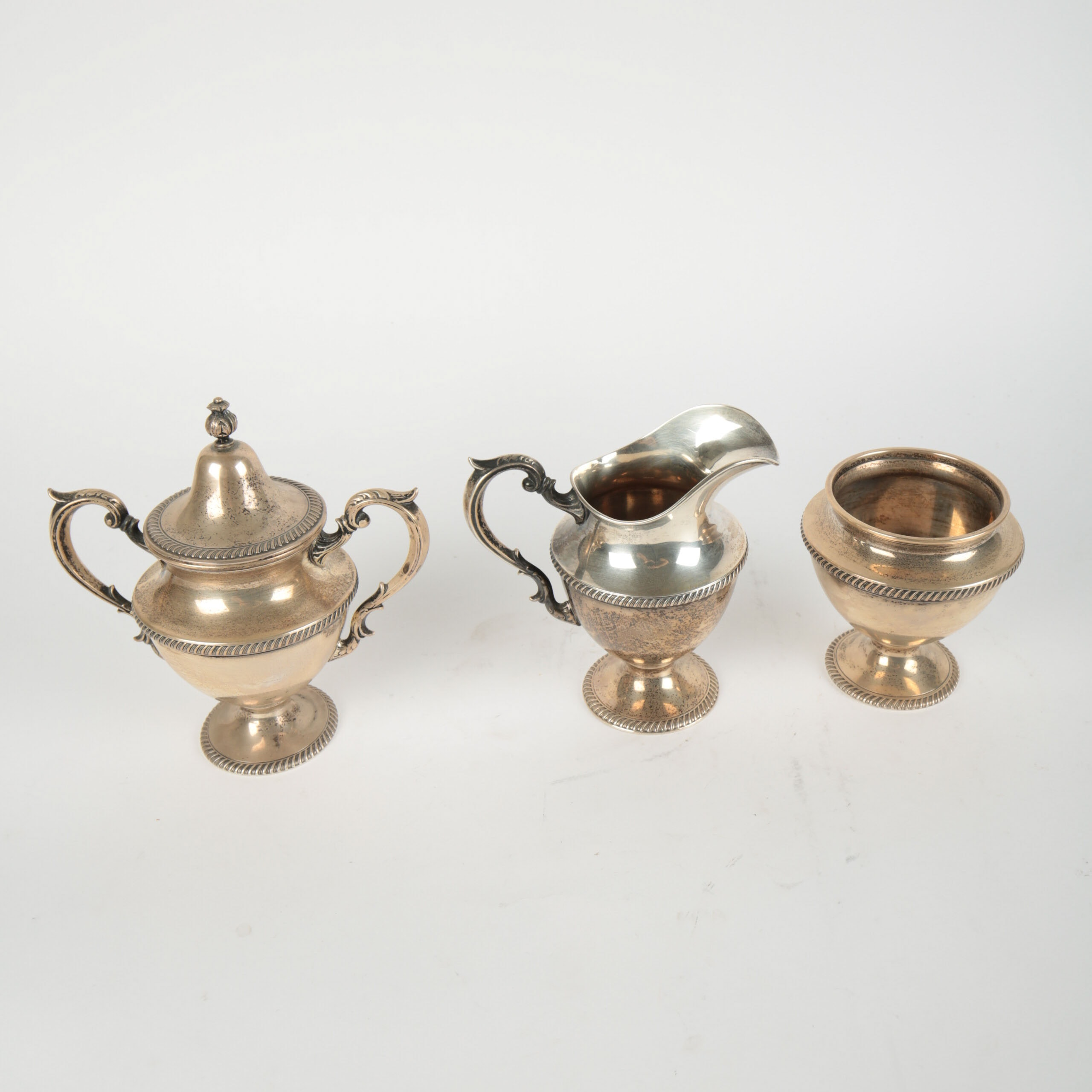 Vintage Fisher Silversmiths Inc. Sterling Silver Tea Service Pieces