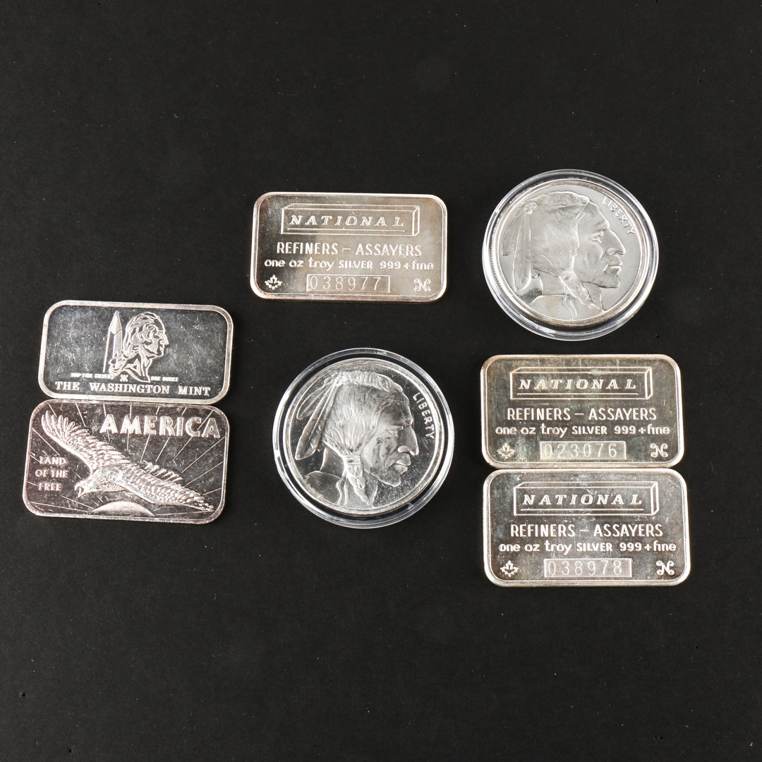 Seven Troy Ounces of .999 Fine Silver Bullion
