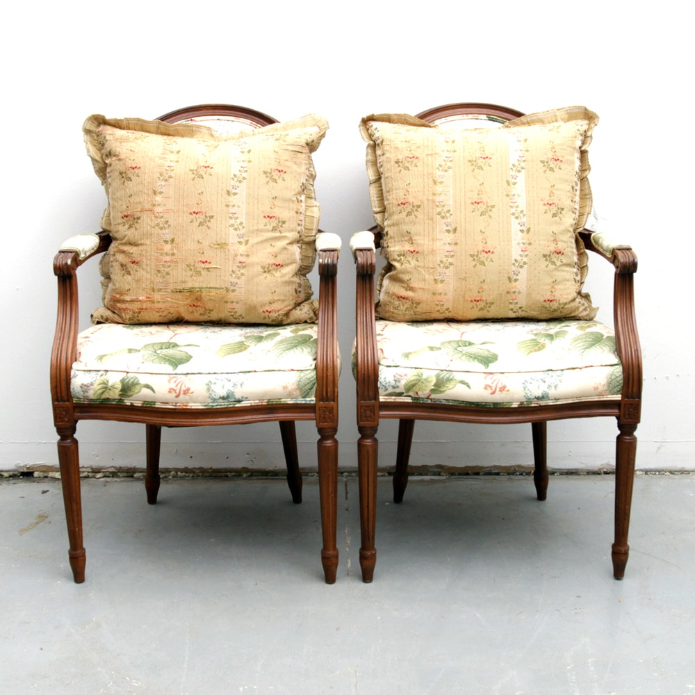 Vintage Louis XVI Style Balloon Back Chairs by Loeblein Creations