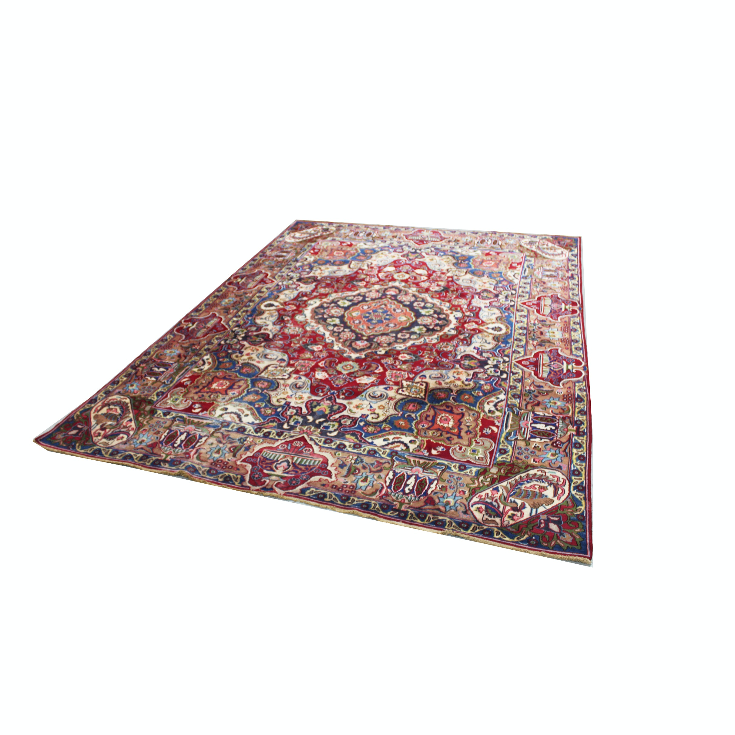 Large Hand-knotted Persian Kashmar Area Rug
