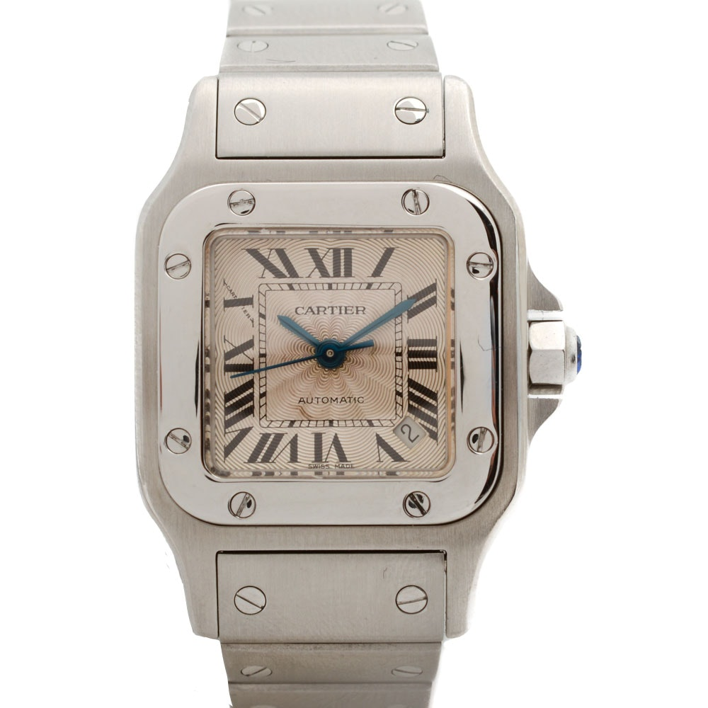 Cartier Santos Galbee Date Automatic 24mm Stainless Steel Wristwatch
