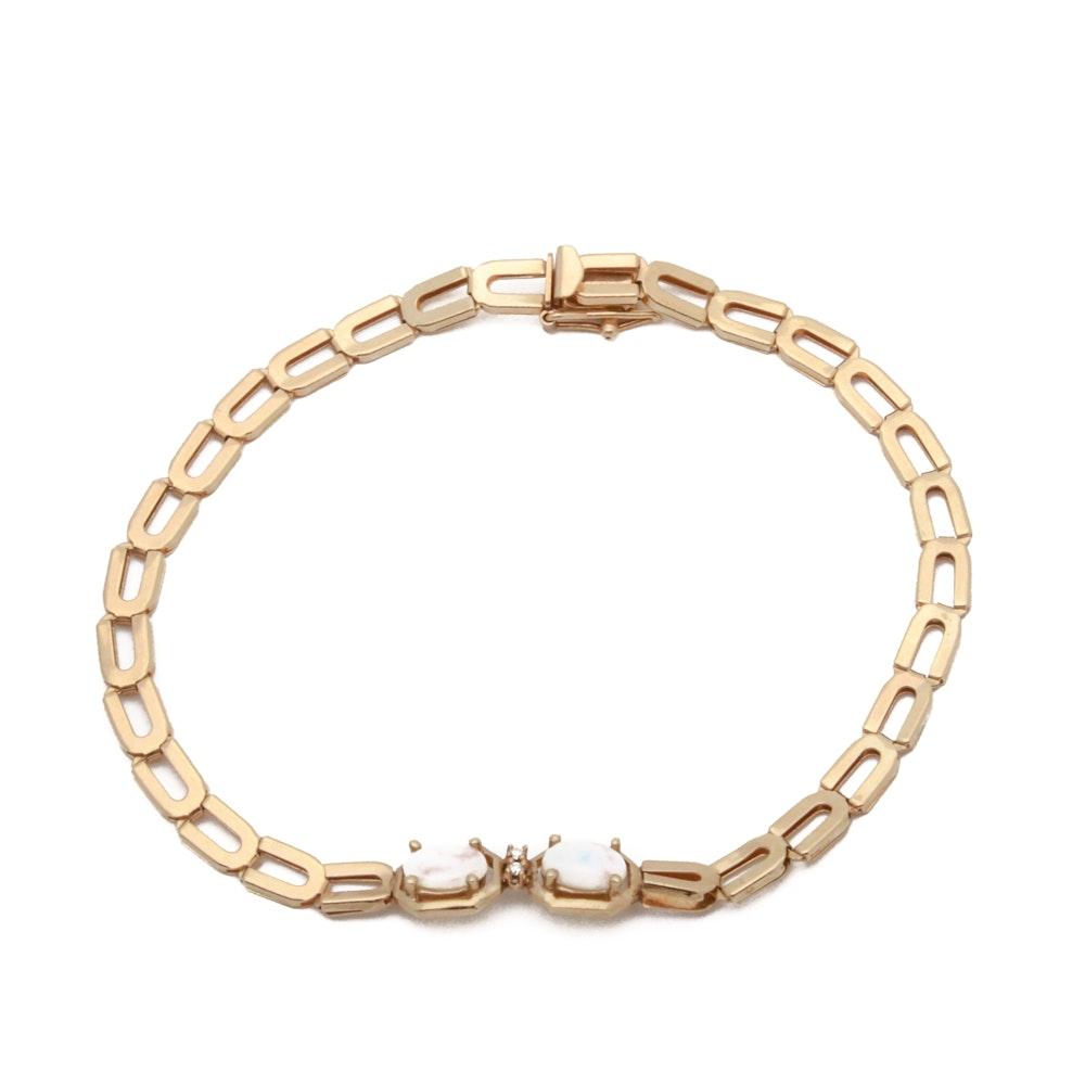 14K Gold and Opal Bracelet