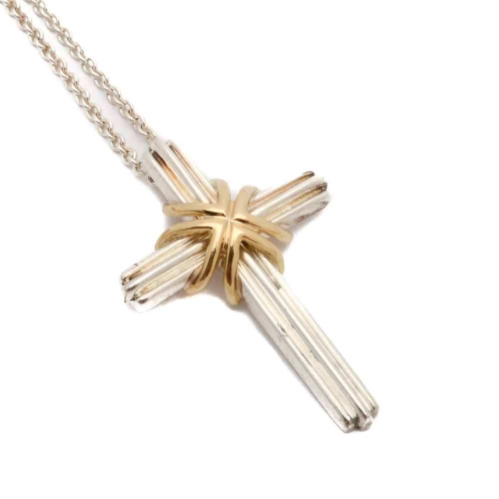 Tiffany & Co. Cross Pendant Necklace