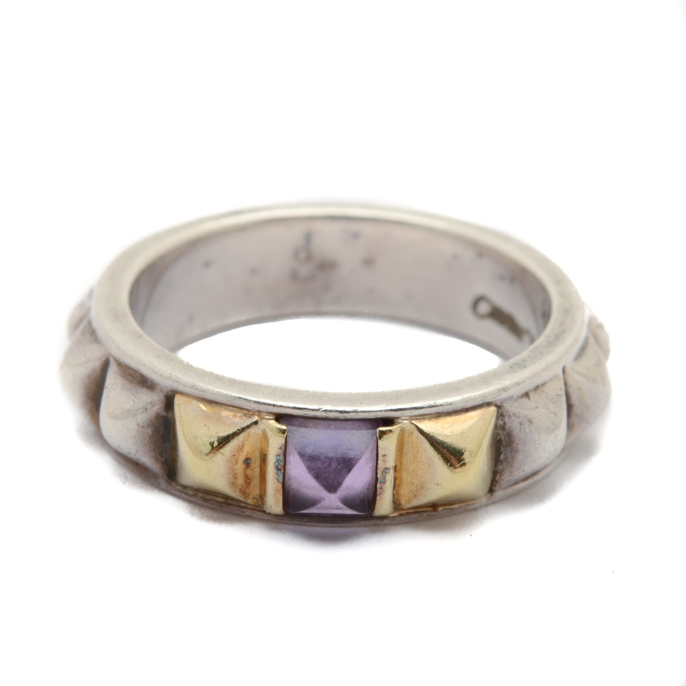Caviar by Lagos Sterling Silver Amethyst Ring