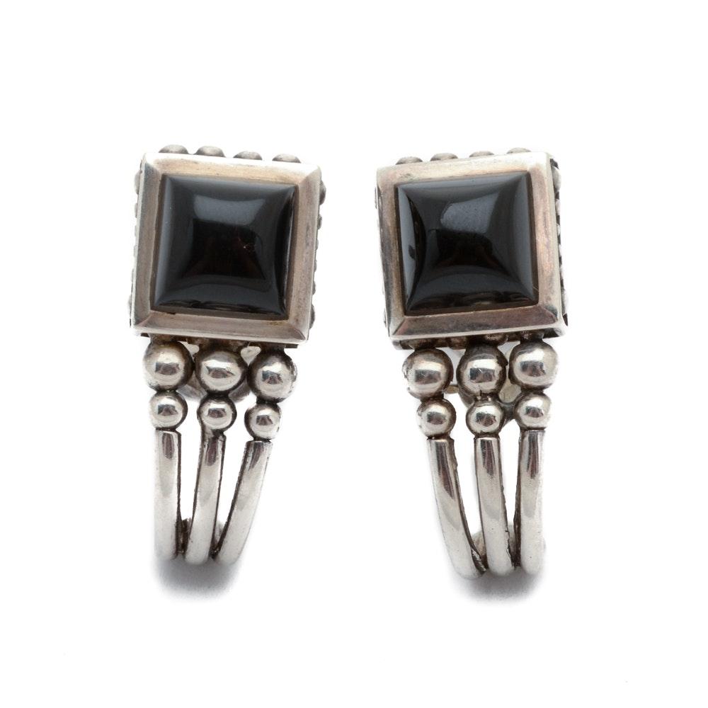 J.J. Marco Sterling Silver Black Onyx Earrings
