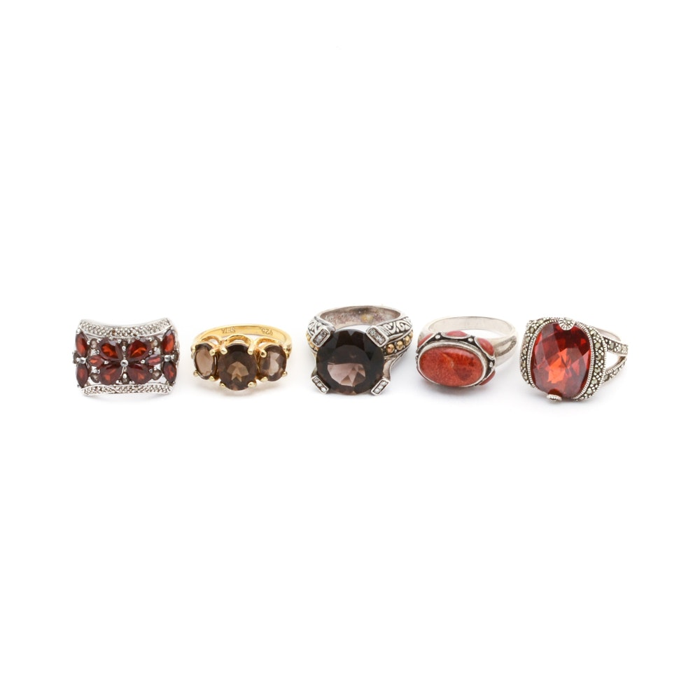 Sterling Silver and Gemstone Rings