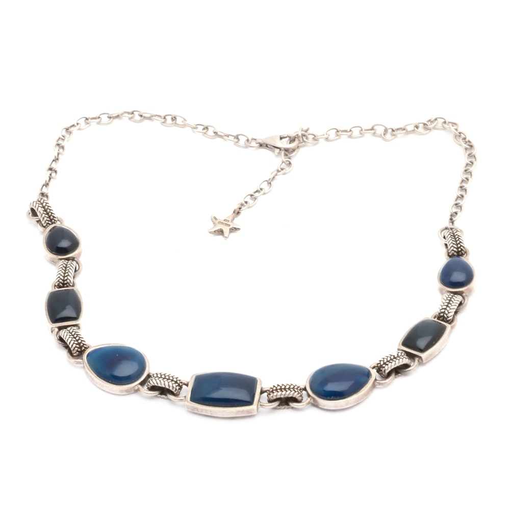 Barse Italy Sterling Silver and Stone Necklace