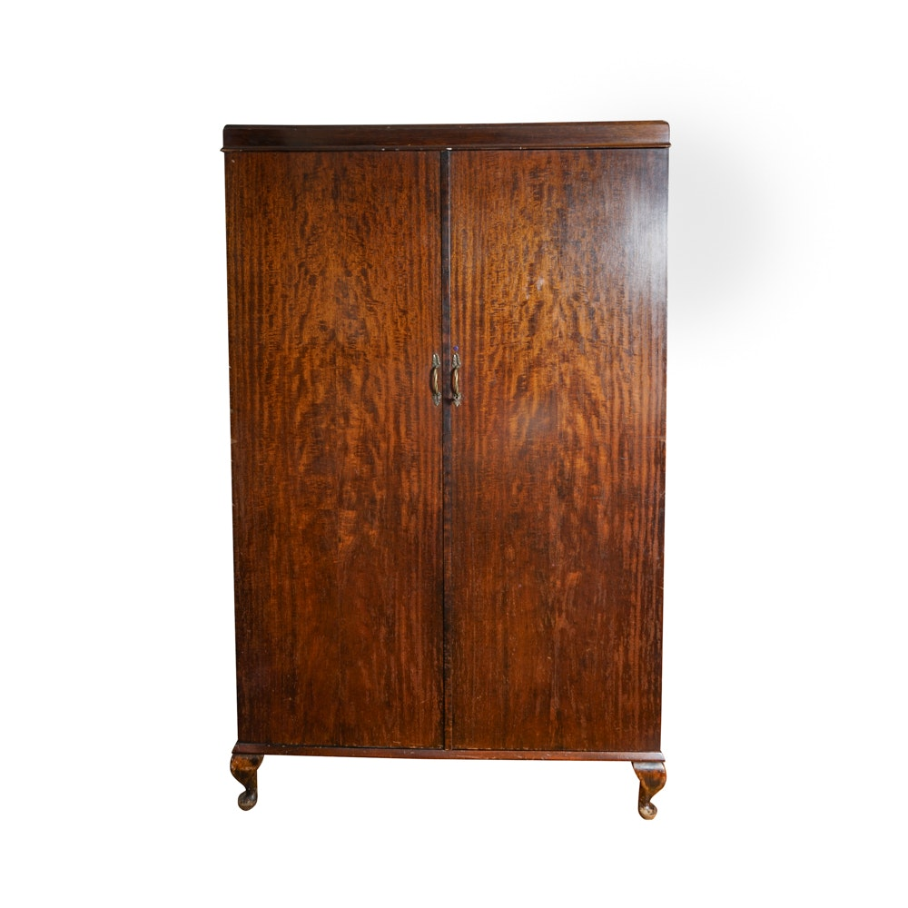 Queen Anne Style Mahogany Wardrobe by Compactom
