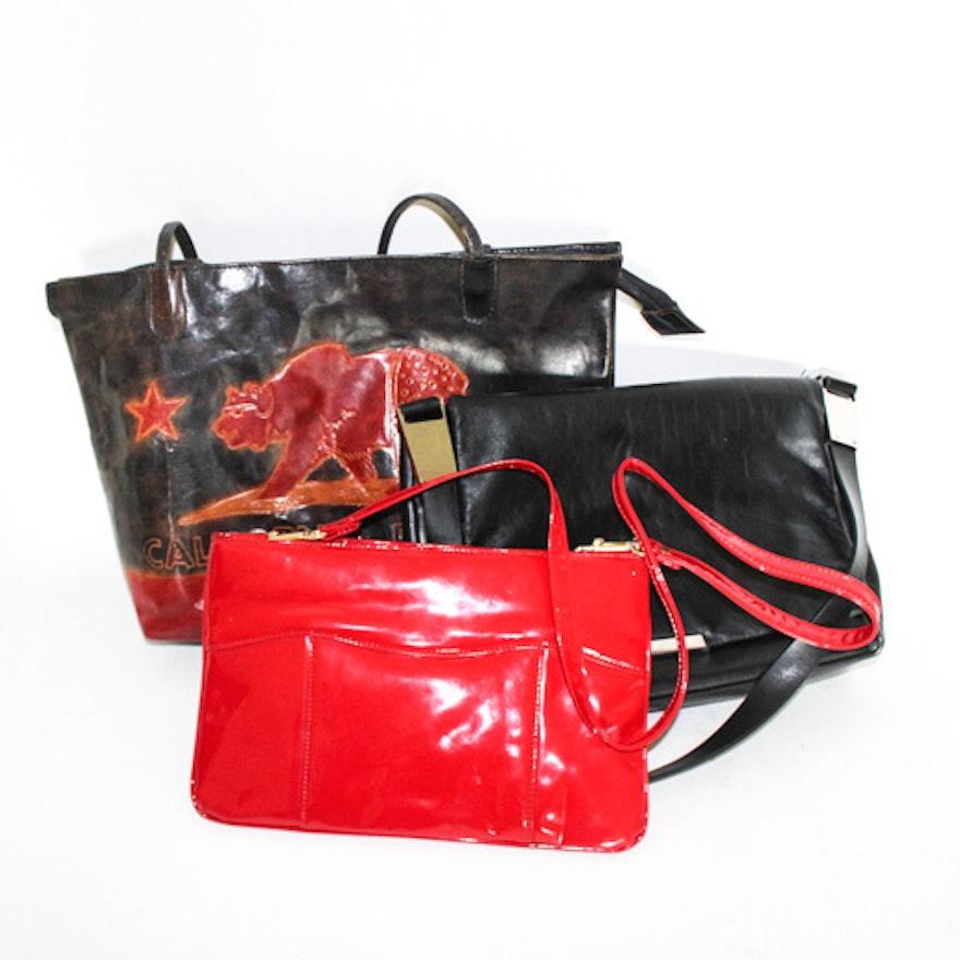 Leather Handbags Including A California Republic Tote Bag
