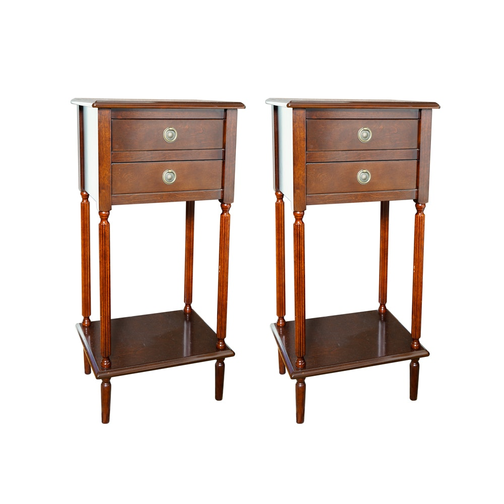 Pair of Sheraton Style Side Tables