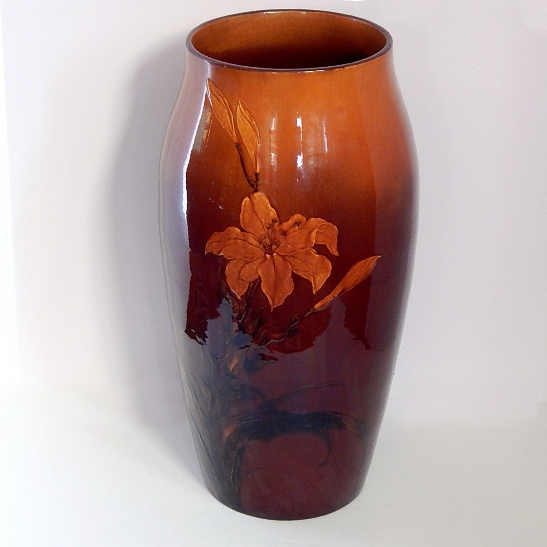 Buds Auto Sales >> Substantial 1887 Albert Valentien Decorated Rookwood Vase : EBTH