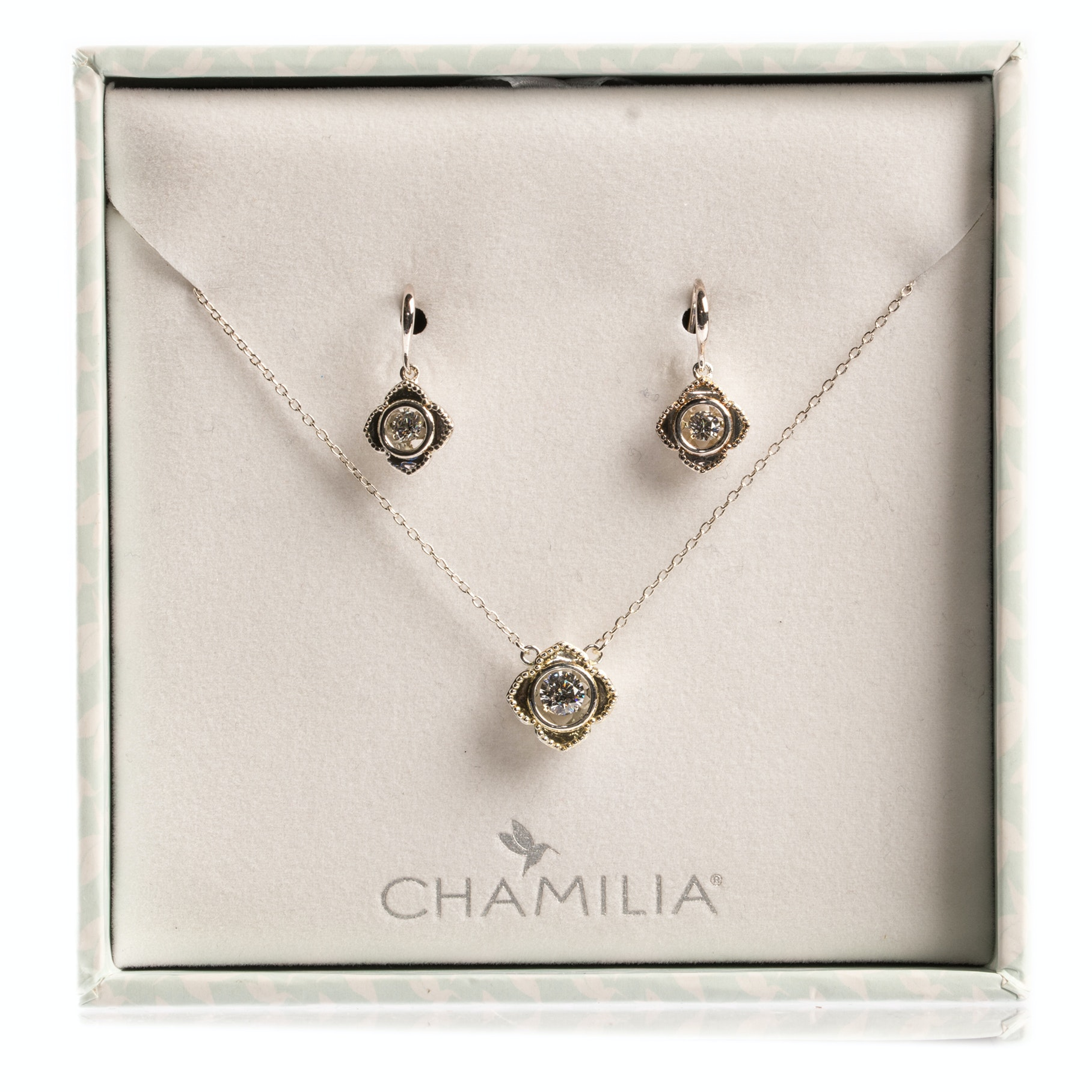 Sterling Silver Chamilia Earrings & Necklace Gift Set