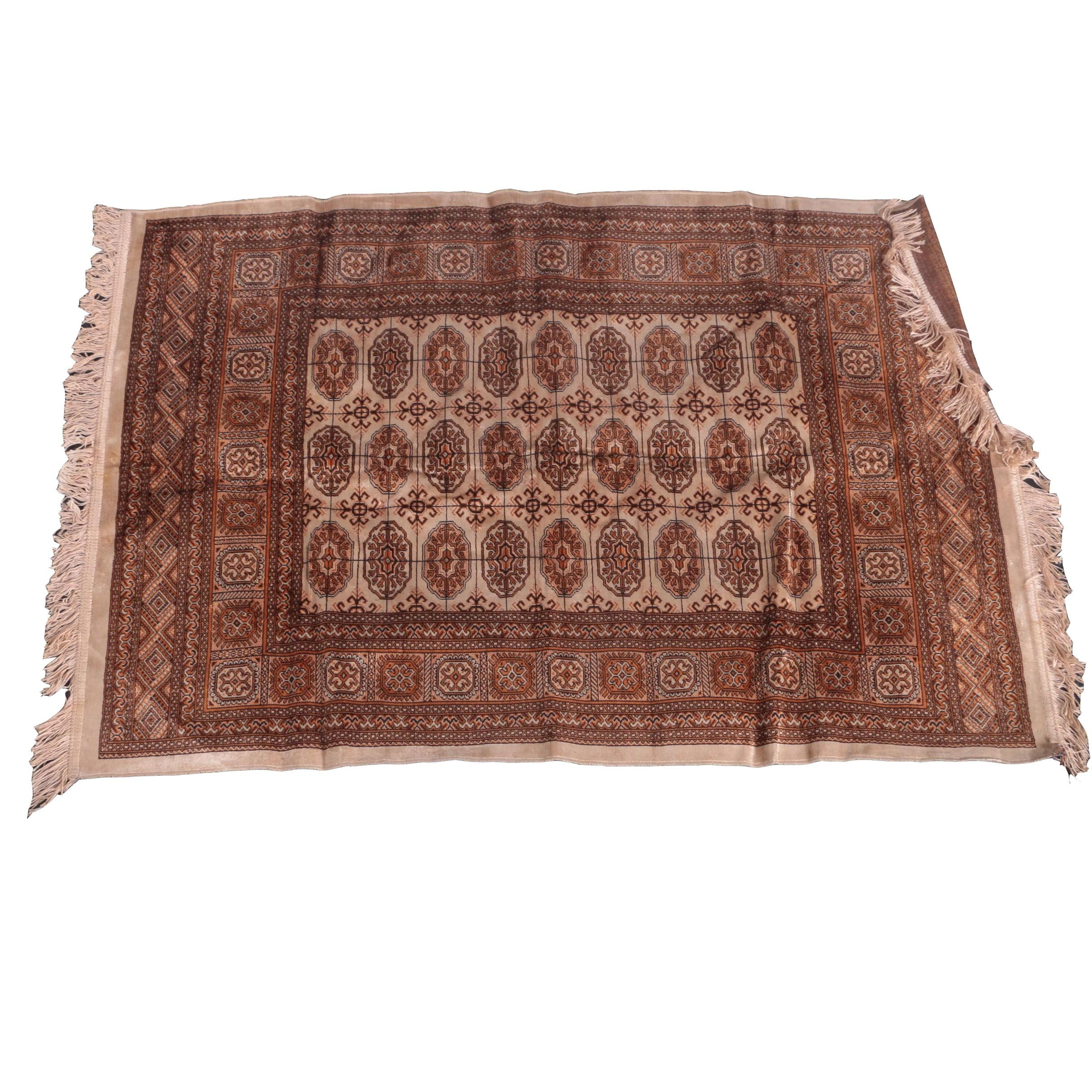 Power-Loomed Bokhara-Style Accent Rug