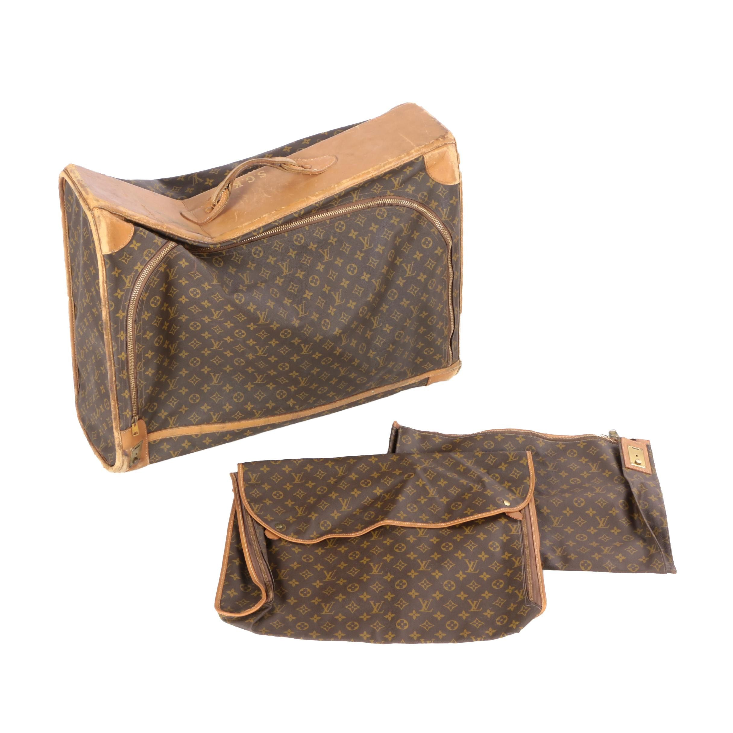 Louis Vuitton Monogram Luggage with Pouches