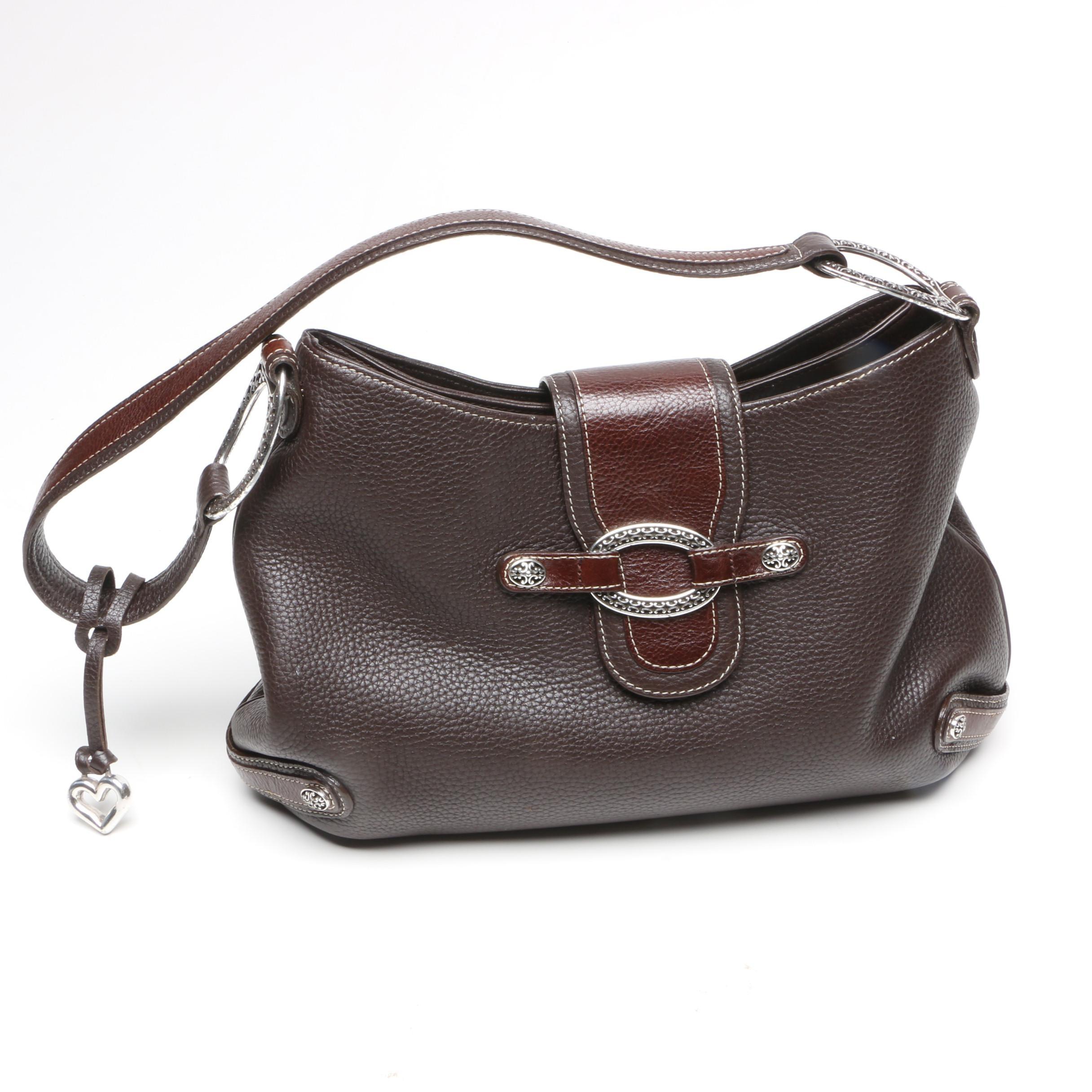 Brighton Selena Two-Tone Brown Leather Purse