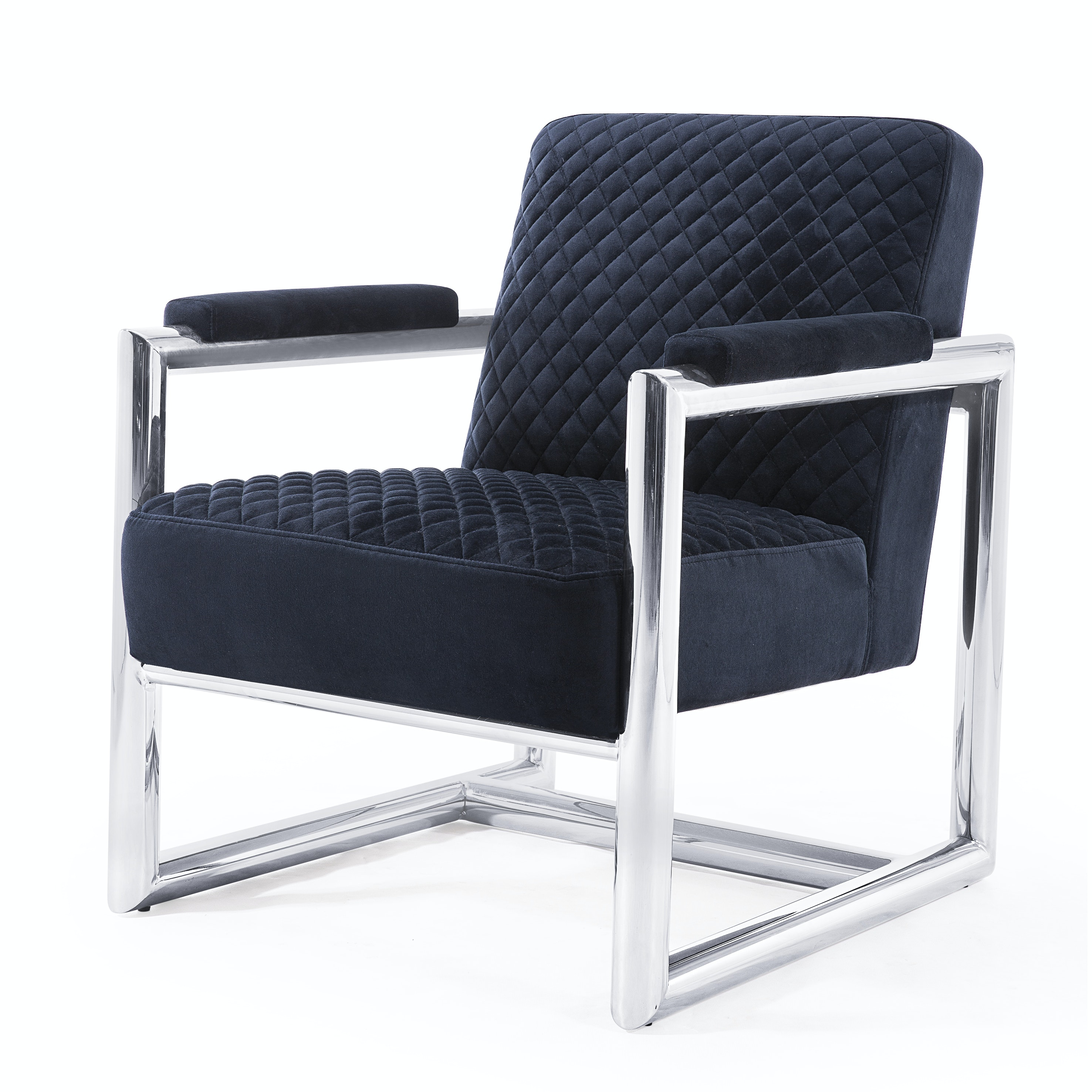 """""""Florence"""" Velvet and Steel Armchair by Blink Home"""