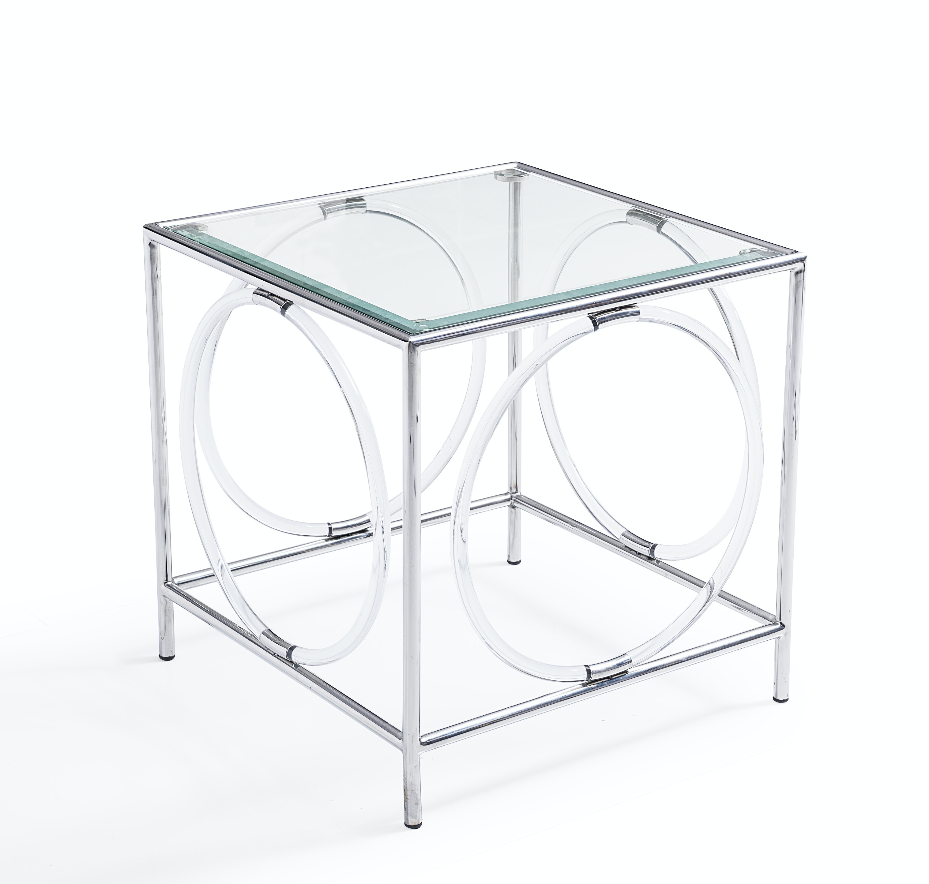 """Blink Home """"Ava"""" Glass Top Side Table"""