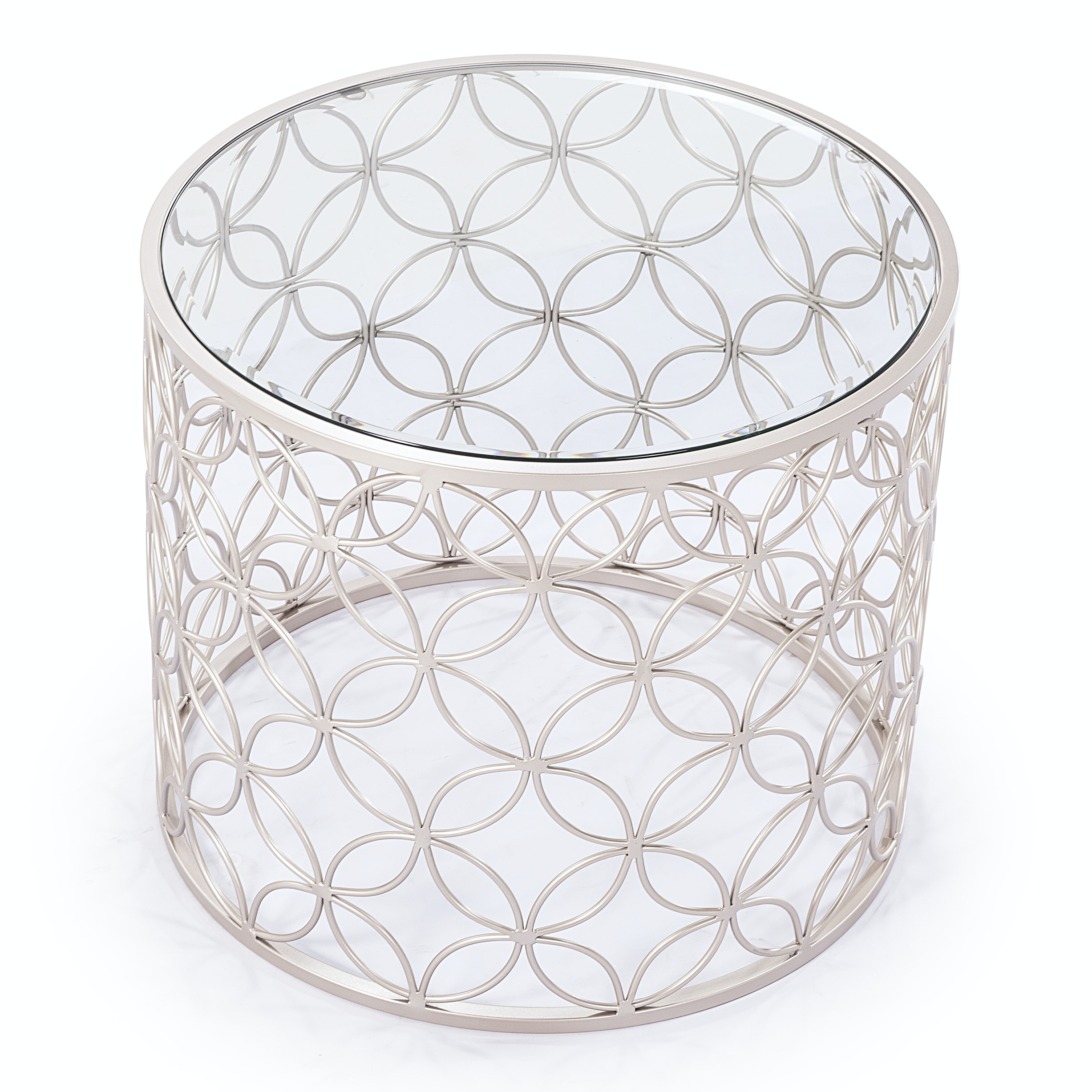 """Blink Home """"Raquel"""" Glass Top Side Table"""