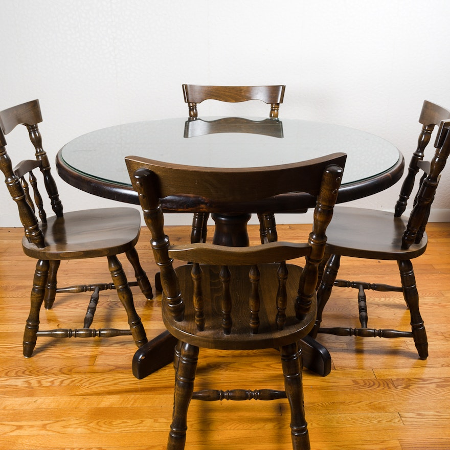 Fine Colonial Style Pedestal Dining Table And Chairs Download Free Architecture Designs Rallybritishbridgeorg