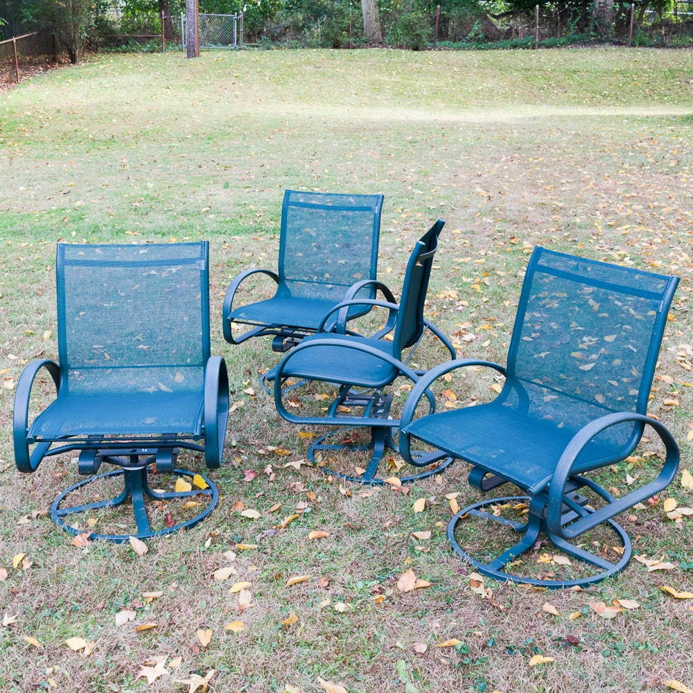 Set of Blue Patio Chairs