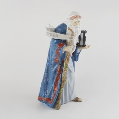 "Lladró ""Father Time"" Retired Porcelain Figurine"