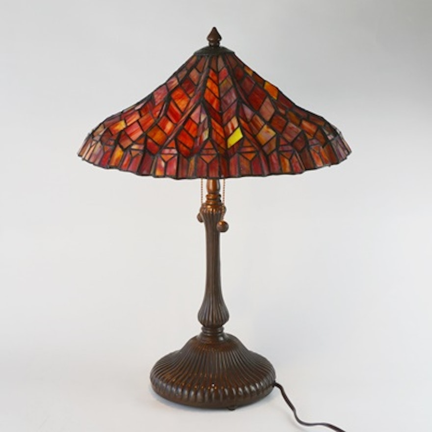 Dale tiffany stained glass table lamp ebth dale tiffany stained glass table lamp aloadofball Gallery