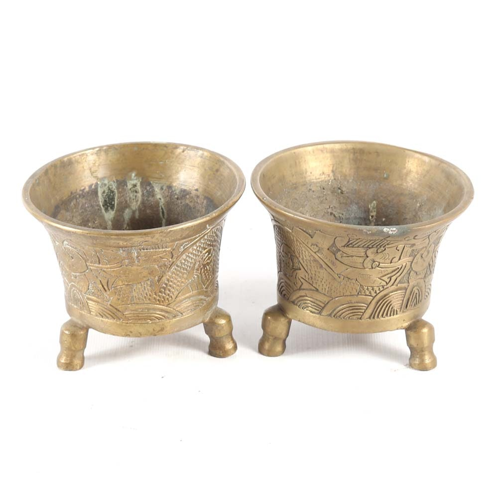 Vintage Japanese Brass Vessels