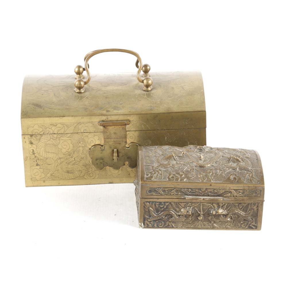 Vintage Chinese Brass Boxes