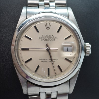 Rolex Oyster Perpetual Datejust Stainless Steel Wristwatch