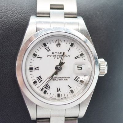 Women's Rolex Oyster Perpetual Date Stainless Wristwatch